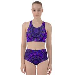 Purple Kaleidoscope Mandala Pattern Racer Back Bikini Set