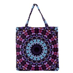 Kaleidoscope Shape Abstract Design Grocery Tote Bag