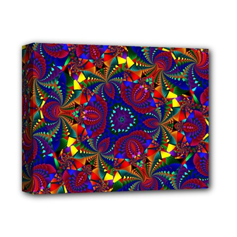 Kaleidoscope Pattern Ornament Deluxe Canvas 14  X 11