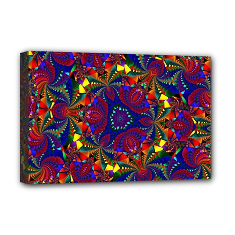 Kaleidoscope Pattern Ornament Deluxe Canvas 18  X 12
