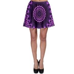 Mandala Purple Mandalas Balance Skater Skirt