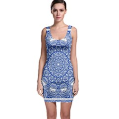 Blue Mandala Kaleidoscope Bodycon Dress