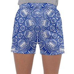 Blue Mandala Kaleidoscope Sleepwear Shorts