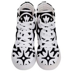 Mandala Pattern Mystical Men s Hi Top Skate Sneakers