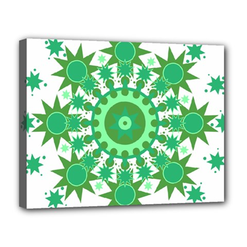Mandala Geometric Pattern Shapes Canvas 14  X 11