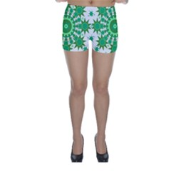 Mandala Geometric Pattern Shapes Skinny Shorts