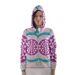 Mandala Design Arts Indian Hooded Wind Breaker (women)