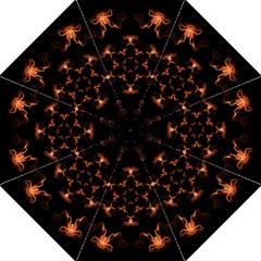 Mandala Fire Mandala Flames Design Hook Handle Umbrellas (medium)