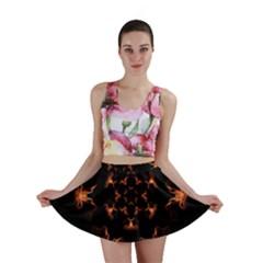 Mandala Fire Mandala Flames Design Mini Skirt