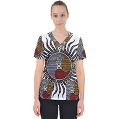 Whole Complete Human Qualities Scrub Top