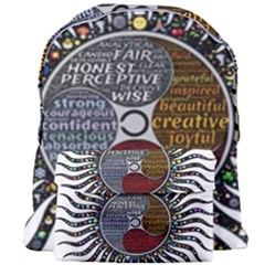 Whole Complete Human Qualities Giant Full Print Backpack