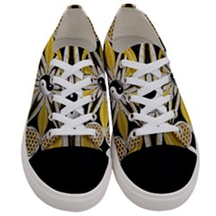 Mandala Yin Yang Live Flower Women s Low Top Canvas Sneakers