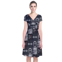 Twenty One Pilots Blurryface Arctic Monkeys Am Short Sleeve Front Wrap Dress