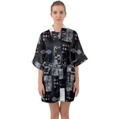 Twenty One Pilots Blurryface Arctic Monkeys Am Quarter Sleeve Kimono Robe