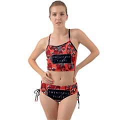 Twenty One Pilots Pattern Mini Tank Bikini Set