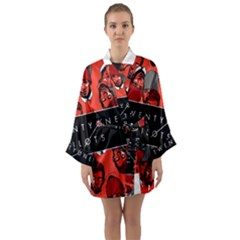 Twenty One Pilots Pattern Long Sleeve Kimono Robe