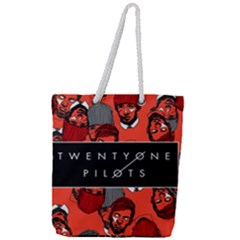 Twenty One Pilots Pattern Full Print Rope Handle Tote (large)