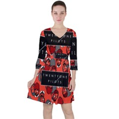Twenty One Pilots Pattern Ruffle Dress