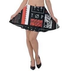 Twenty One Pilots Poster Velvet Skater Skirt