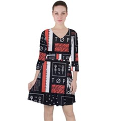 Twenty One Pilots Poster Ruffle Dress