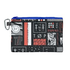 Twenty One Pilots Poster Canvas Cosmetic Bag (large)