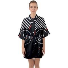 Twenty One Pilots Poster Quarter Sleeve Kimono Robe