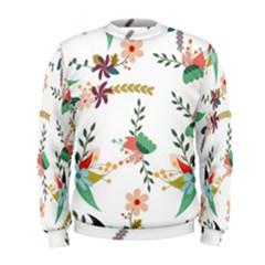 Floral Backdrop Pattern Flower Men s Sweatshirt