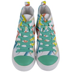 The Background Wallpaper Design Women s Mid Top Canvas Sneakers