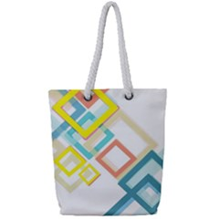 The Background Wallpaper Design Full Print Rope Handle Tote (small)