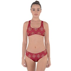 Pattern Background Holiday Criss Cross Bikini Set