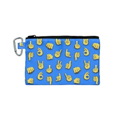 Emojis Hands Fingers Background Canvas Cosmetic Bag (small)