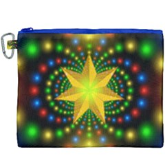Christmas Star Fractal Symmetry Canvas Cosmetic Bag (xxxl)