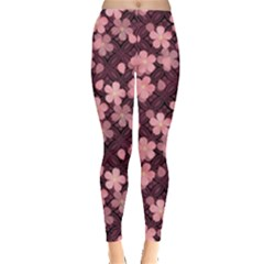 Cherry Blossoms Japanese Style Pink Leggings