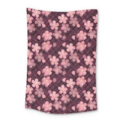 Cherry Blossoms Japanese Style Pink Small Tapestry