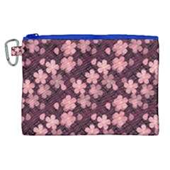 Cherry Blossoms Japanese Style Pink Canvas Cosmetic Bag (xl)