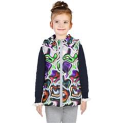 Background Texture Pattern Kid s Puffer Vest