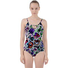 Background Texture Pattern Cut Out Top Tankini Set