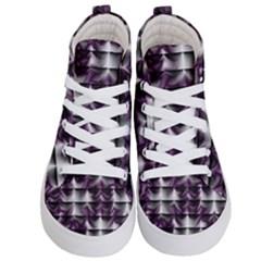 Background Texture Pattern Kid s Hi Top Skate Sneakers