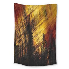 Refinery Oil Refinery Grunge Bloody Large Tapestry