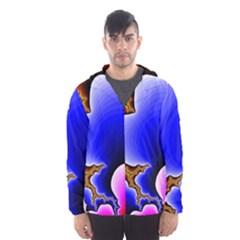 Fractal Background Pattern Color Hooded Wind Breaker (men)