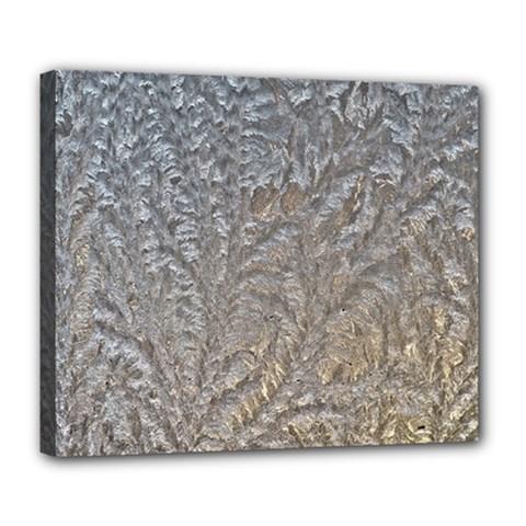 Eiskristalle Hardest Frozen Texture Deluxe Canvas 24  X 20
