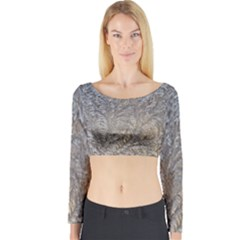 Eiskristalle Hardest Frozen Texture Long Sleeve Crop Top