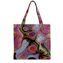 Retro Background Colorful Hippie Grocery Tote Bag