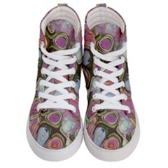 Retro Background Colorful Hippie Men s Hi Top Skate Sneakers