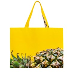 Pineapple Raw Sweet Tropical Food Zipper Large Tote Bag