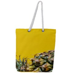 Pineapple Raw Sweet Tropical Food Full Print Rope Handle Tote (large)