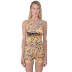 Background Abstract Art One Piece Boyleg Swimsuit
