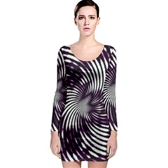 Background Texture Pattern Long Sleeve Bodycon Dress