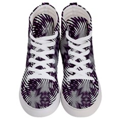 Background Texture Pattern Men s Hi Top Skate Sneakers