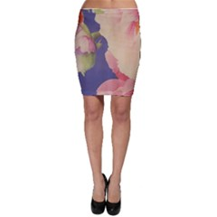 Fabric Textile Abstract Pattern Bodycon Skirt